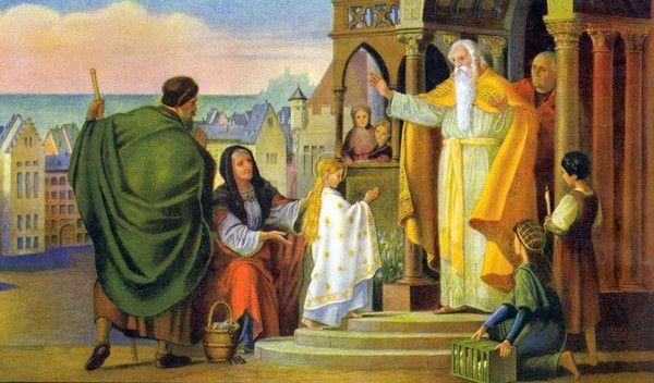 Présentation de la très sainte vierge Marie au temple